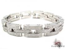 Stainless Steel Prong Diamond Bracelet 32364 Stainless Steel Bracelets