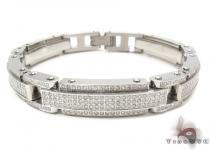 Stainless Steel Prong Diamond Bracelet 32375 Stainless Steel Bracelets