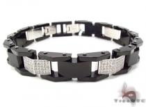 Stainless Steel Prong Diamond Bracelet 32376 Stainless Steel Bracelets