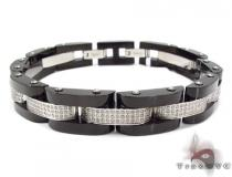 Stainless Steel Prong Diamond Bracelet 32377 Stainless Steel Bracelets