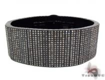 Prong Diamond Black Bracelet 32586 Stainless Steel Bracelets