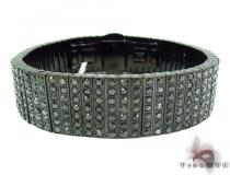 Prong Diamond Black Stainless Steel Bracelet 32587 Stainless Steel Bracelets