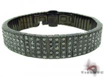 Prong Diamond Black Stainless Steel Bracelet 32588 Stainless Steel Bracelets