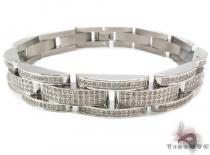 Prong Diamond Stainless Steel Bracelet 32590 Stainless Steel Bracelets