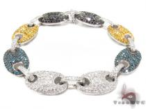 Gucci Link Multi-colored Diamond Bracelet Mens Diamond Bracelets