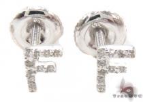 Prong Diamond Initial 'F' Earrings 32634 レディース ダイヤモンドイヤリング