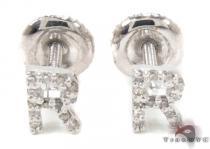 Prong Diamond Initial 'R' Earrings 32651 レディース ダイヤモンドイヤリング