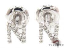 Prong Diamond Initial 'N' Earrings 32648 レディース ダイヤモンドイヤリング