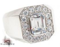 14K White CZ Ring 32699 メンズ ダイヤモンド リング