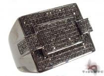 Prong Black Diamond Ring 32848 メンズ ブラックダイヤモンド リング