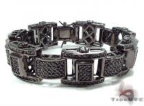 Black Silver CZ Bracelet 32887 Silver