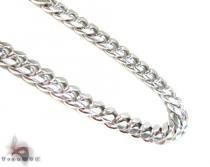 Miami Silver Chain 34 Inches, 8mm, 139.2 Grams Silver Chains