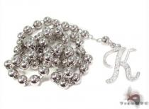 Custom K Initial Rosary Chain ダイヤモンド ロザリオ チェーン
