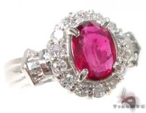 Light Pink Ruby & Diamond Ring 32964 ジェムストーン ダイヤモンド リング
