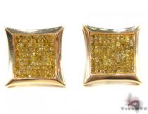 Invisible Diamond Earrings 32976 Mens Diamond Earrings
