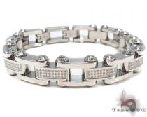 Prong Diamond Stainless Steel Bracelet 32980 Stainless Steel Bracelets