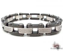 Prong Diamond Stainless Steel Bracelet 32981 Stainless Steel Bracelets