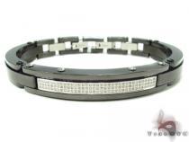 Prong Diamond Stainless Steel Bracelet 32985 Stainless Steel