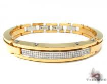 Prong Diamond Stainless Steel Bracelet 32986 Stainless Steel Bracelets