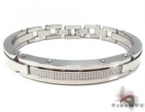 Prong Diamond Stainless Steel Bracelet 32987 Stainless Steel