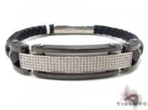 Prong Diamond Stainless Steel Bracelet 32989 Stainless Steel Bracelets