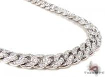 Prong Diamond Cuban Chain 30 Inches 11mm 231.7 Grams Diamond Chains
