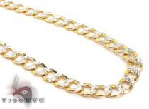 10k Gold Diamond Cut Cuban Link Chain 24 Inches 3.5mm 5.5 Grams ゴールド チェーン
