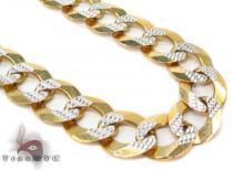Solid Cuban Diamond Cut Chain 30 Inches 11mm 82.4 Grams Gold