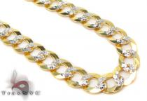Solid Cuban Diamond Cut Chain 28 Inches 6mm 22.1 Grams Gold