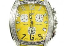 Aqua Techno Diamond with Yellow Leather Watch アクアテクノ