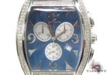 Aqua Techno Diamond & Blue Leather Watch アクアテクノ