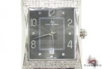 Aqua Techno Diamond with Black Leather Watch Affordable Diamond Watches