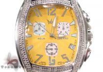 Aqua Techno Yellow Steel & Diamond Watch アクアテクノ