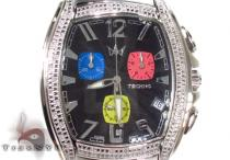 Aqua Techno Stainless Steel Colored Diamond Watch Aqua Techno