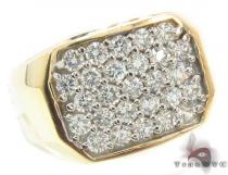 CZ 10K Gold Ring 33214 Mens Gold Rings