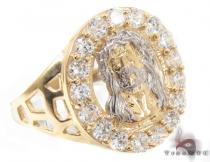 CZ 10K Gold Ring 33212 Mens Gold Rings