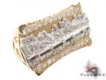 CZ 10K Gold Ring 33215 メンズ ゴールド リング