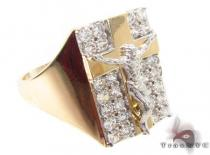 CZ 10K Gold Ring 33217 メンズ ゴールド リング