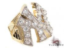 CZ 10K Gold NY Ring 33218 メンズ ゴールド リング