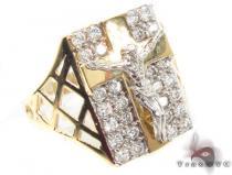 CZ 10K Gold Ring 33219 メンズ ゴールド リング