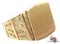 10K Gold Ring 33221 Mens Gold Rings