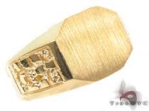 10K Gold Ring 33223 Mens Gold Rings