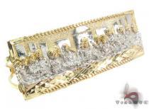 10K Gold Last Supper Ring 33225 Mens Gold Rings