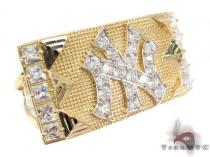 CZ 10K Gold NY Ring 33227 メンズ ゴールド リング