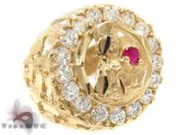 CZ 10K Gold Ring 33246 Mens Gold Rings