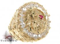 CZ 10K Gold Ring 33247 Mens Gold Rings