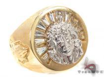 CZ 10K Gold Ring 33249 メンズ ゴールド リング