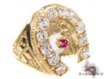 CZ 10K Gold Ring 33251 メンズ ゴールド リング
