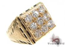 CZ 10K Gold Ring 33252 Mens Gold Rings