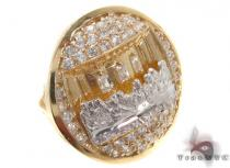 CZ 10K Gold Ring 33253 Mens Gold Rings